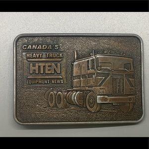 Early 80's Brass Canada's Truck News Belt Buckle